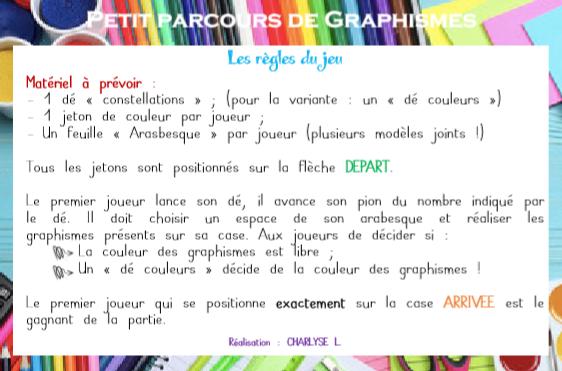 Parcours de graphisme