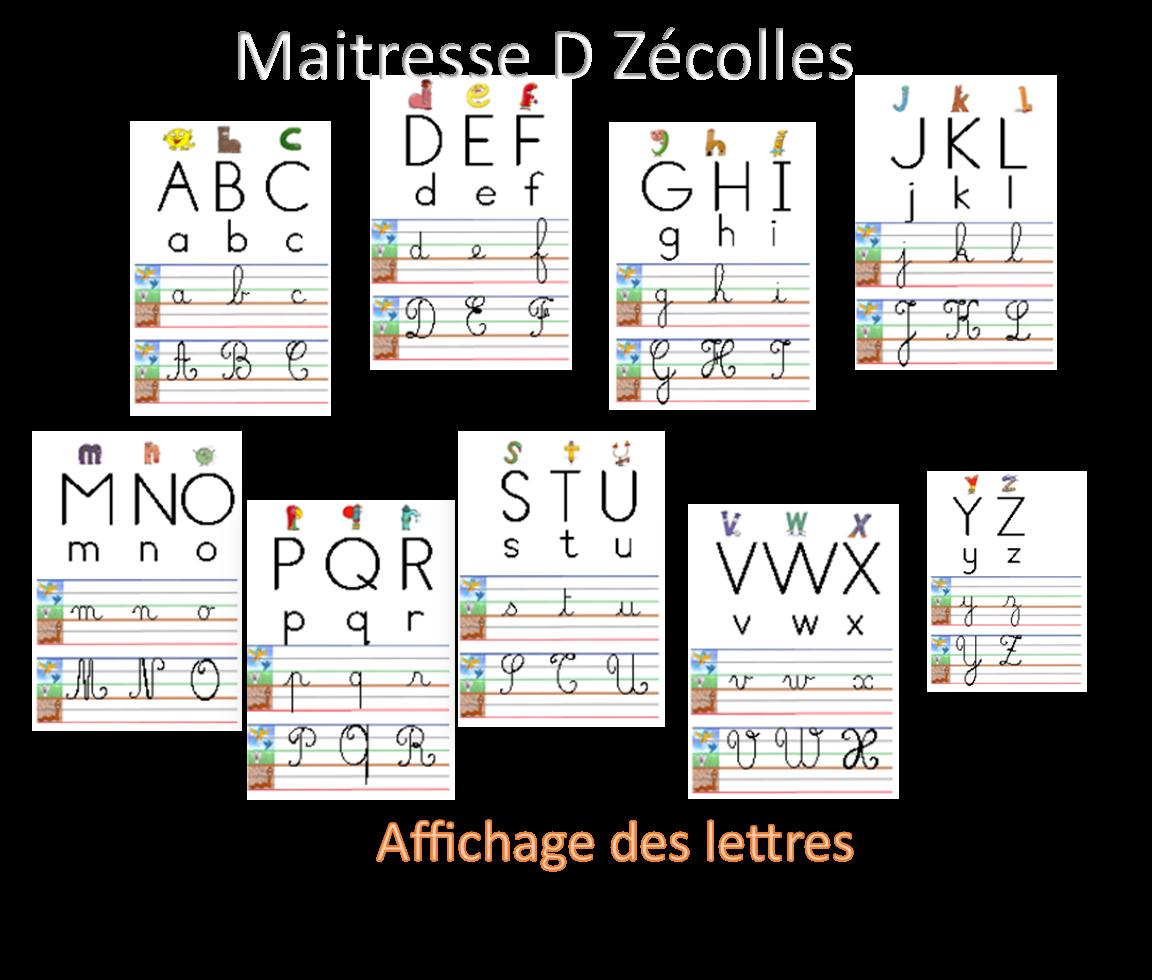 Affichage des lettres dans les différentes graphies (Avec ou sans les alphas)