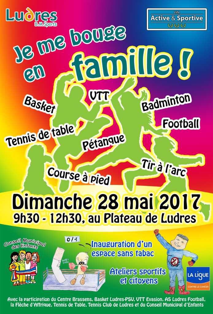 Dimanche 28 mai 2017, venez bouger en famille au Plateau des Loisirs de Ludres