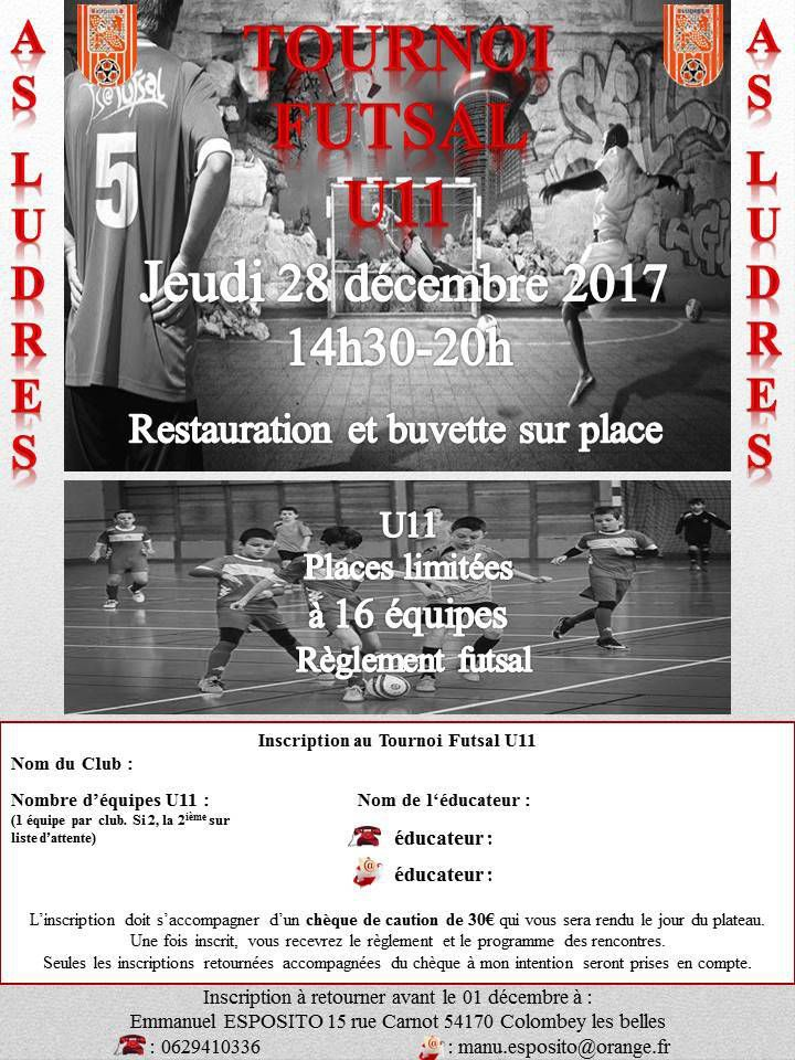 28/12/2017 : U11 - Rassemblement Futsal à Ludres