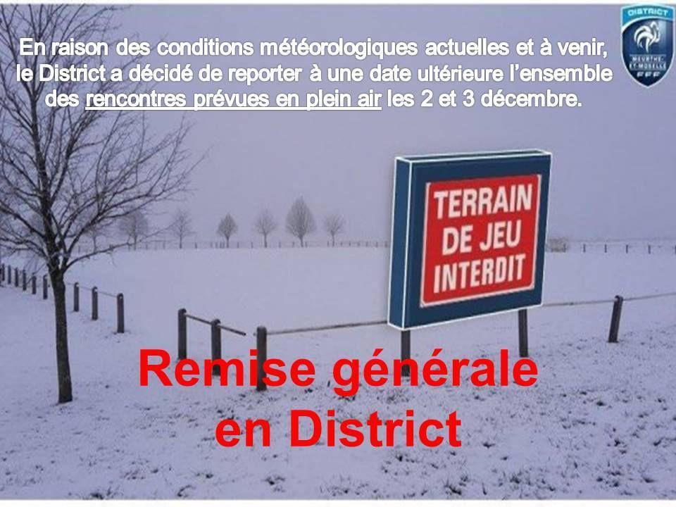 01/12/2017 : Remise Générale sauf Fustal