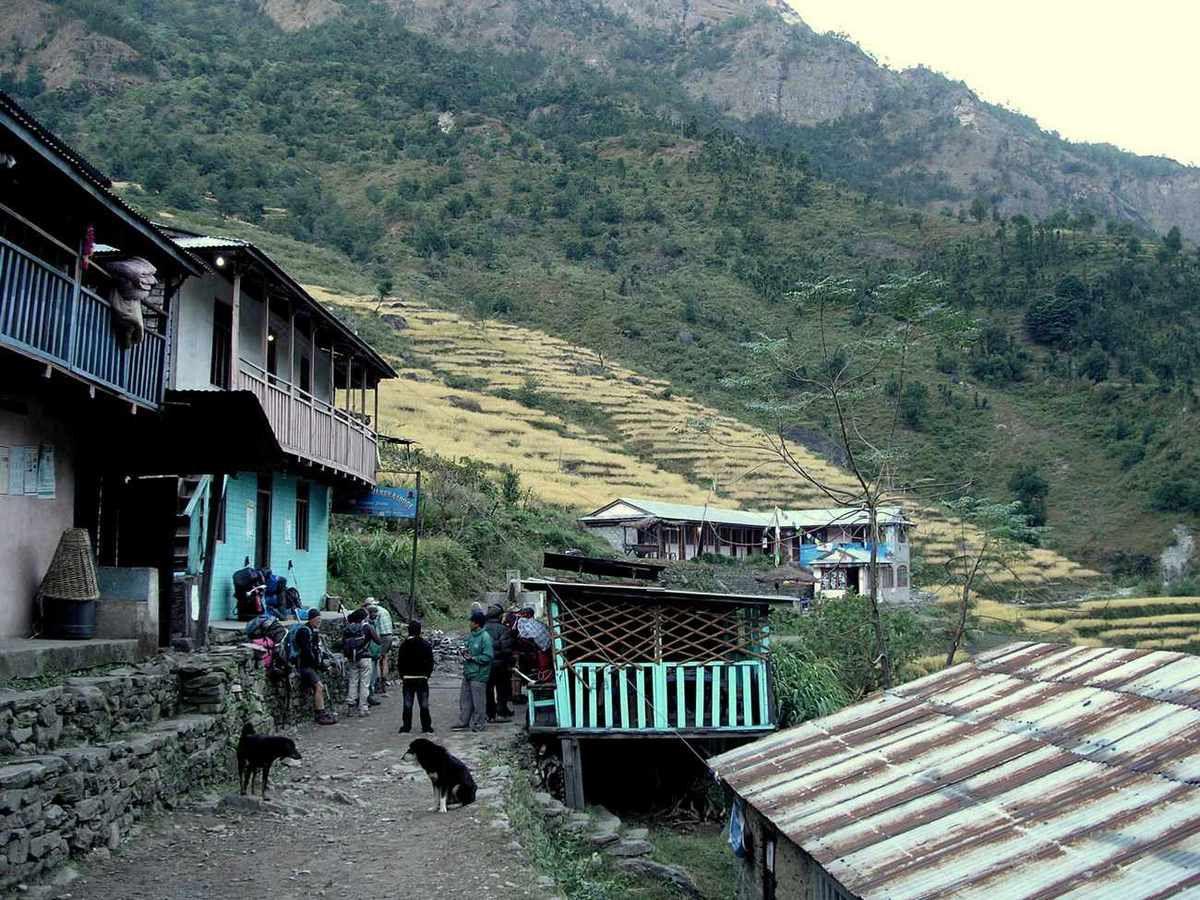 TREK DU MANASLU-NEPAL-17ème et dernière étape ( Syange - Nadi-Bazar)