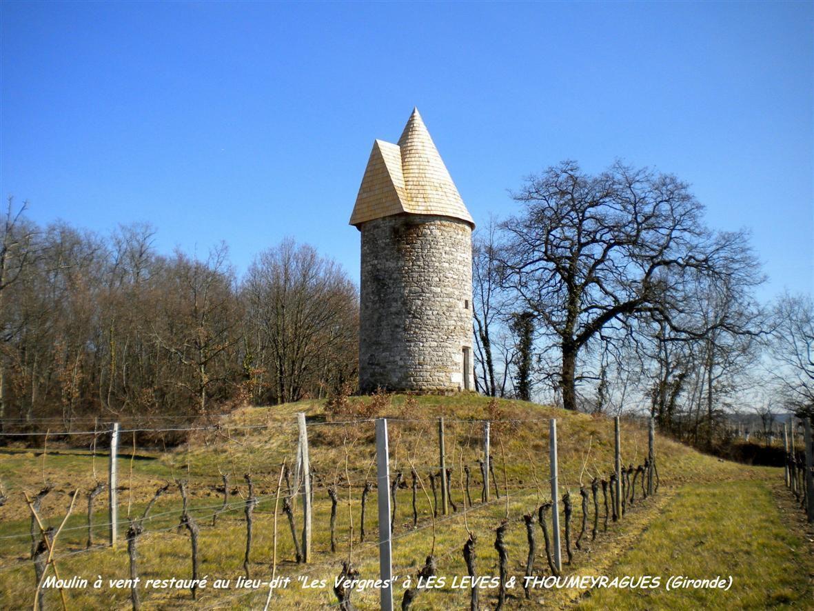 Moulins à vent en Gironde