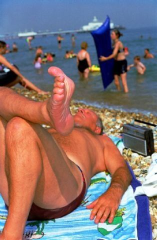 Martin Parr, série England, Eastbourne, 2000, photo couleur