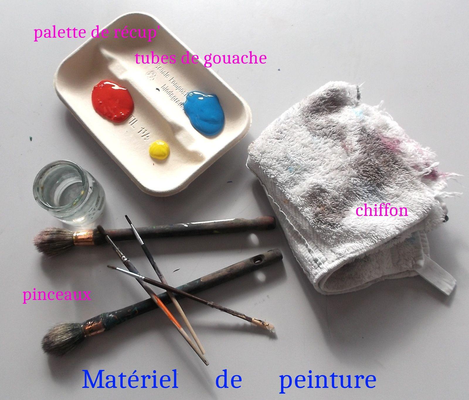 le matériel de peinture