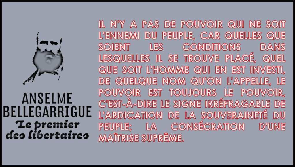 ★ Le pouvoir c'est l'ennemi du peuple