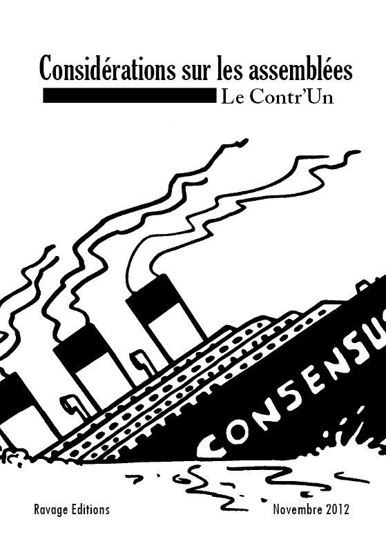 Considérations sur les assemblées. Anarchisme