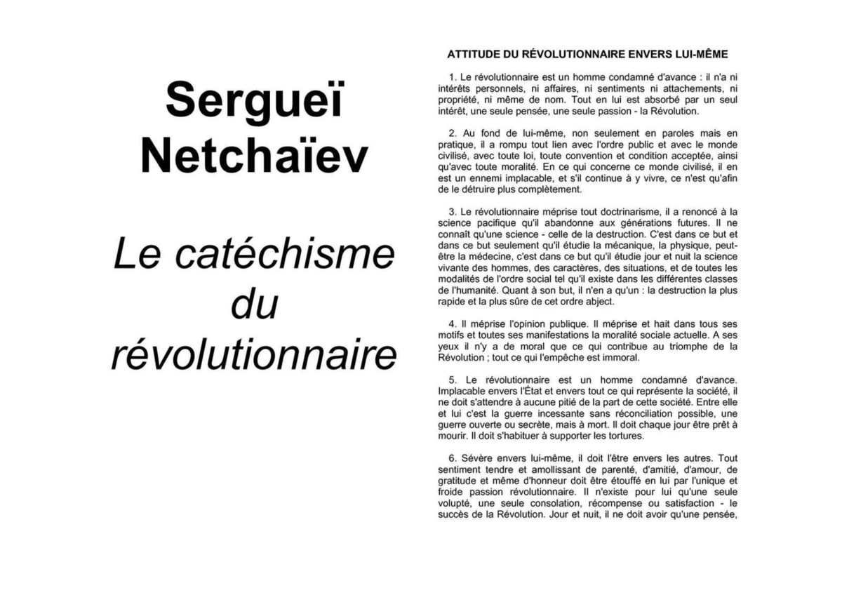 Netchaïev Anarchisme