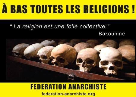 Anticléricalisme religions Anarchisme