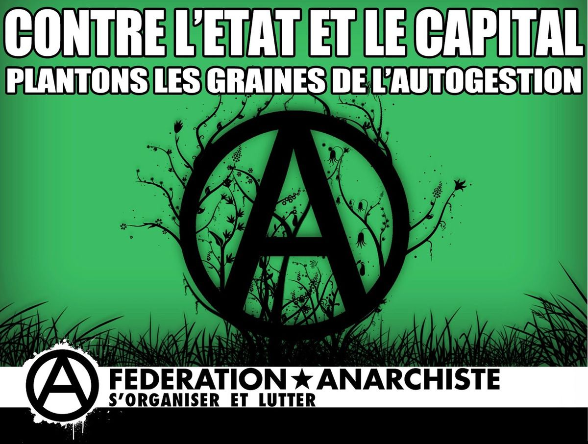 Anarchisme anarchie libertaire capitalisme parlementarisme Anticapitalisme Autogestion