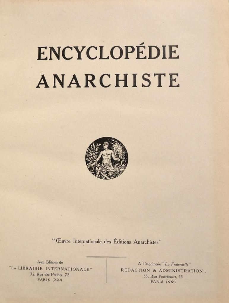 émancipation Anarchie Anarchisme