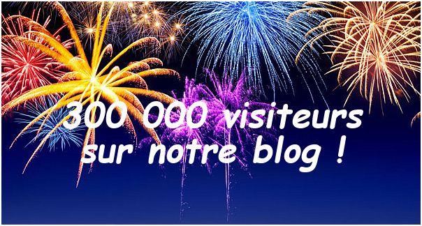 Le 08 mai 2017 notre blog totalisait plus de 300 000 visites pour un total de 425 545 pages vues !