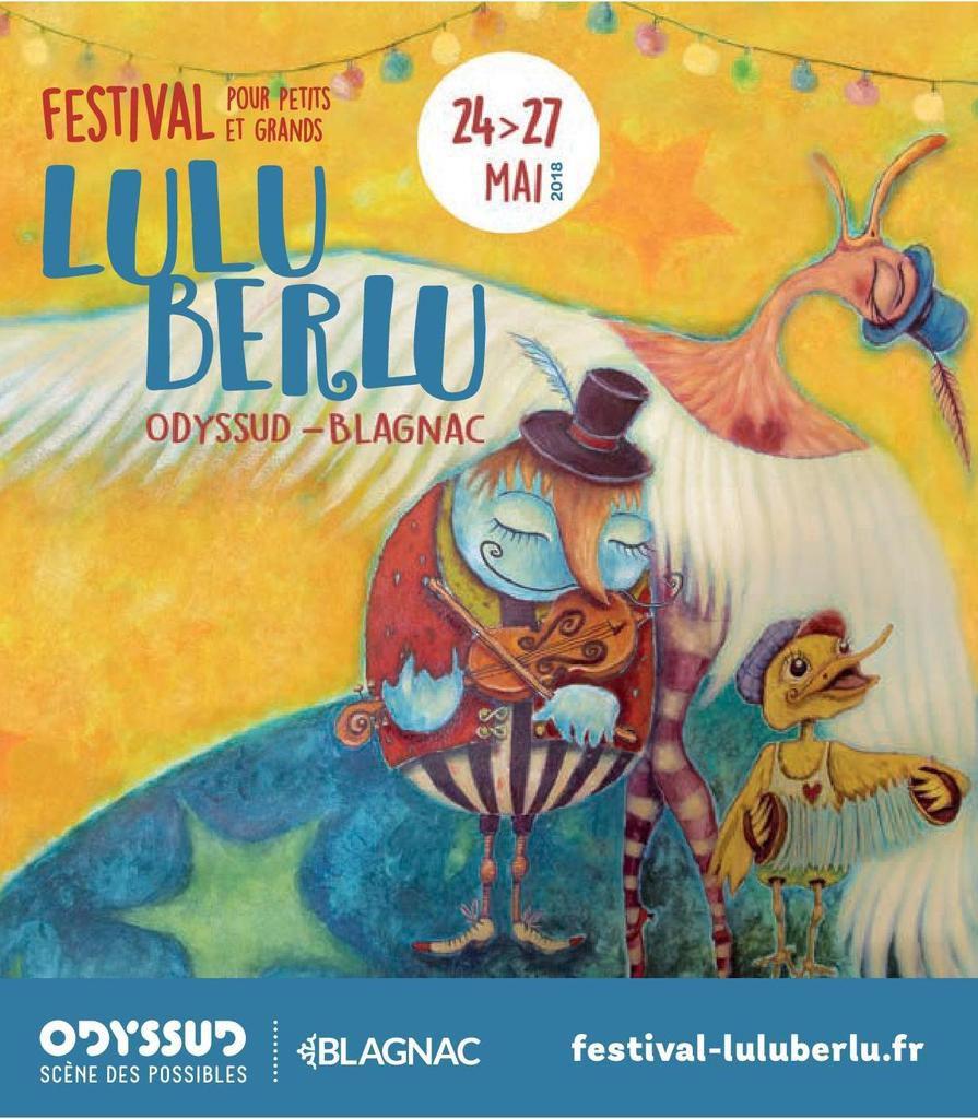Les lecteurs et lectrices de Blagnac au festivial Luluberlu