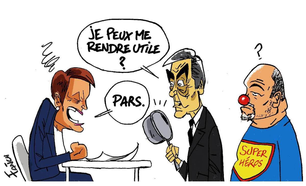 Soizic Perrault, François Fillon et Georges-Yves Guillot