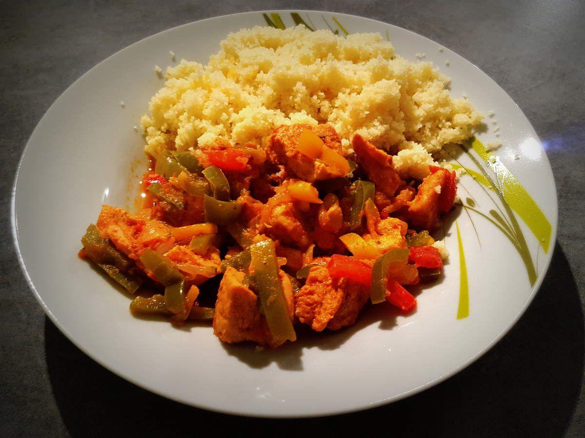 Mijoté de poulet et poivrons - version Cookeo