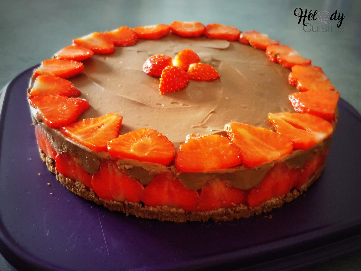 Cheesecake chocolat et fruits rouges
