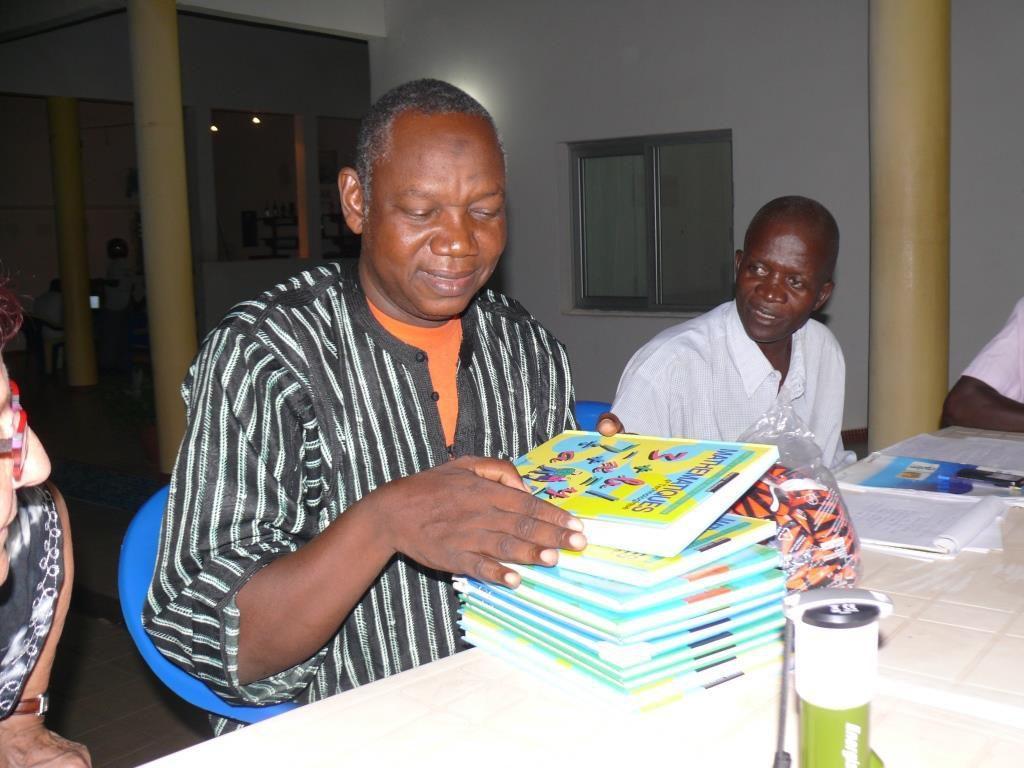 Avec Sidibé le directeur du collège
