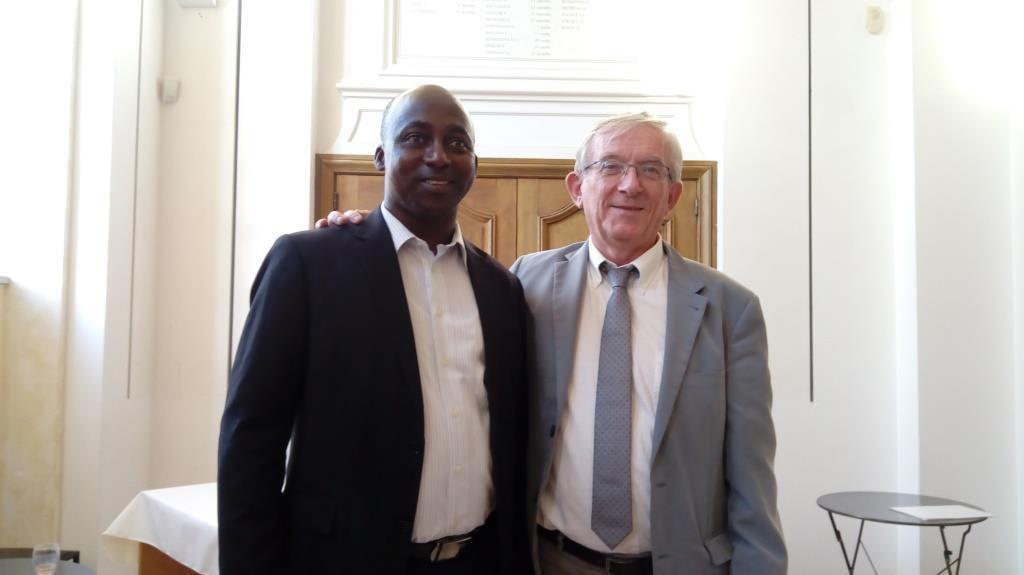 Abdoulaye Sow, maire de Tankanto-Escale et Joel Favreau, maire de Machecoul en septembre dernier