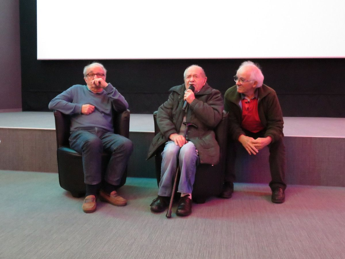 Prrésentation de l'association « Echanges et solidarités 44 » en présence de son président, Bernard Quillaud à gauche