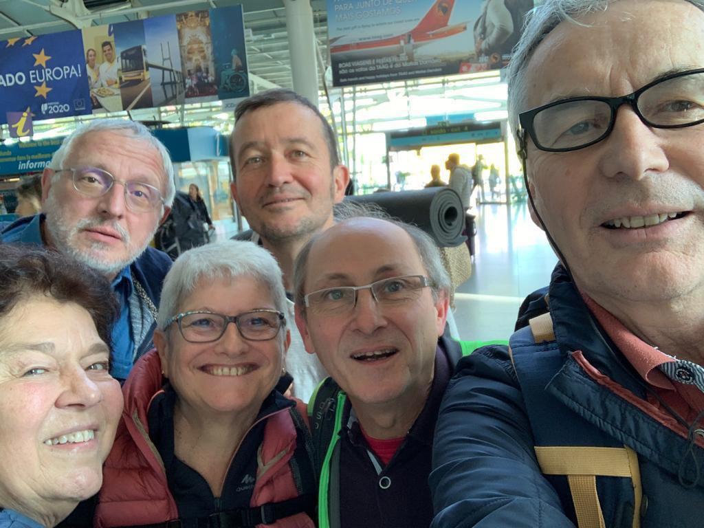 Le groupe en escale à Lisbonne