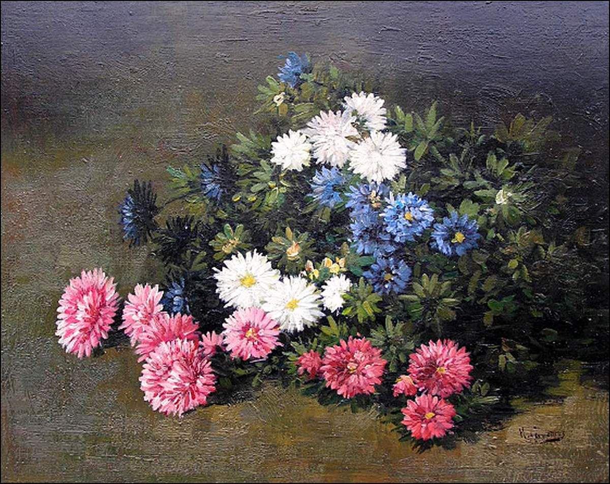 Les fleurs par les grands peintres (70) - Eugène Cauchois (1850-1911)