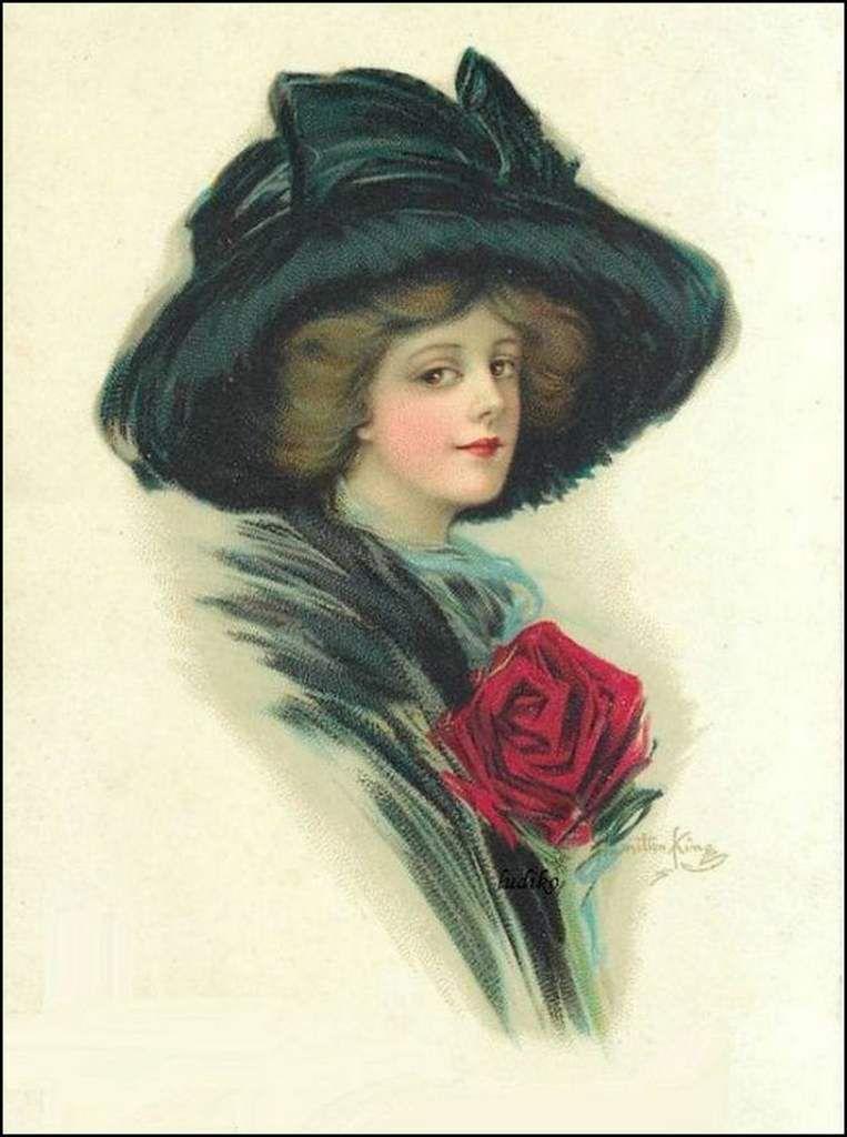 Femmes à chapeau par les grands peintres (360) - Hamilton King (1871-1952)