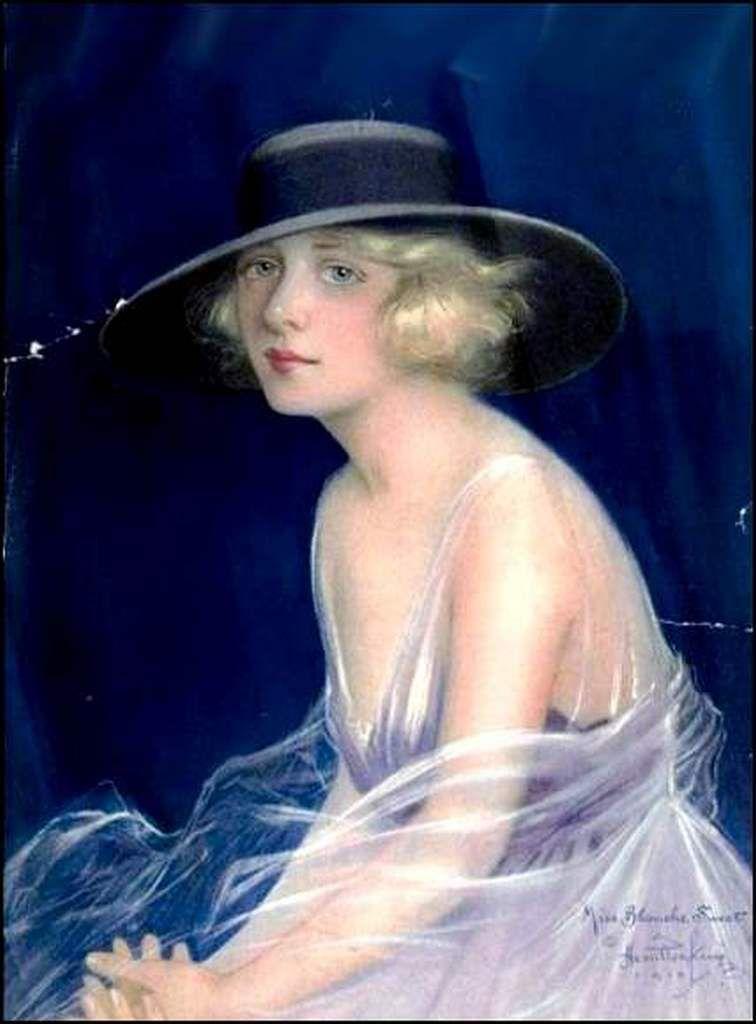 Femmes à chapeau par les grands peintres (361) - Hamilton King (1871-1952)