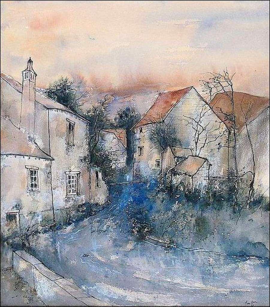 Bernard Gantner (1928) printemps en Haute-Saône