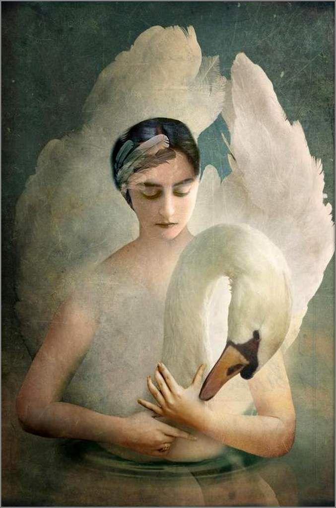 Femme et oiseau en peinture - Catrin Welz-Stein