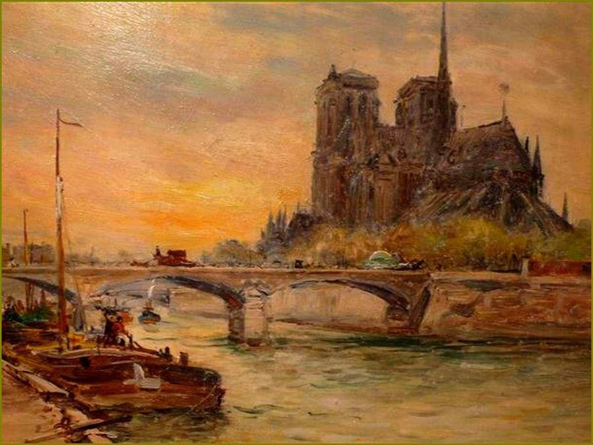 Gustave Madelain (1867-1944) Notre Dame de Paris