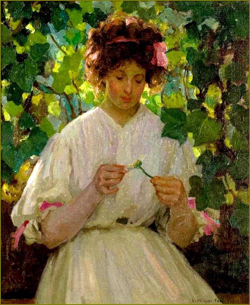 Emanuel Phillips Fox (1865-1915) marguerite - 1909