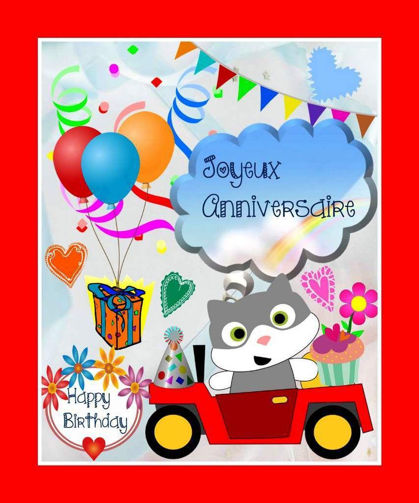 Cartes Anniversaires Enfants A Imprimer Balades Comtoises