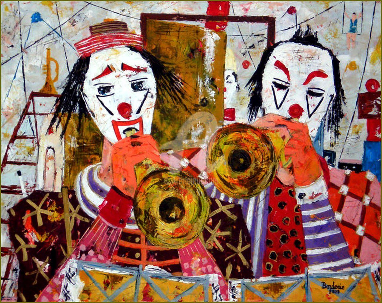 Clowns en peinture -  Jean-Pierre Borderie