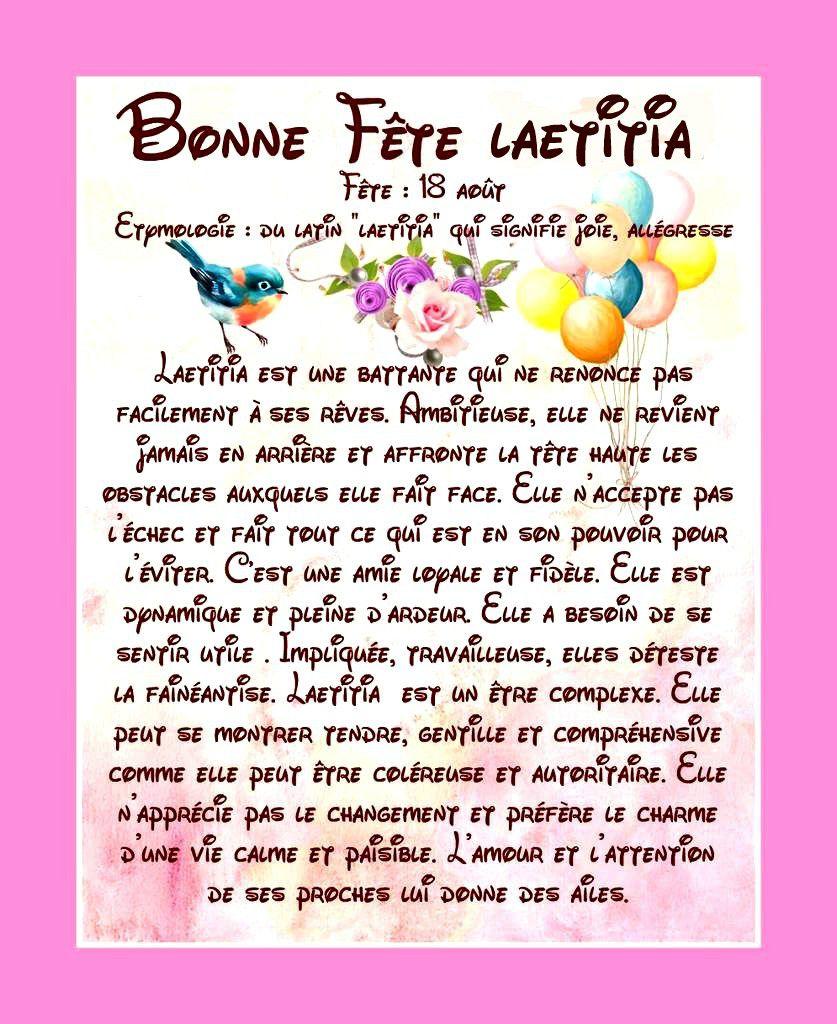 Bonne Fête Laeticia - 18 août
