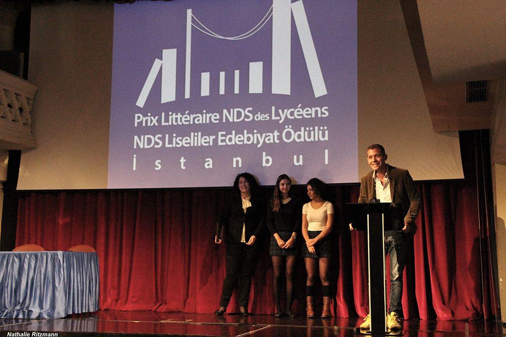 Romain Puértolas, lauréat du Prix Littéraire NDS 2016 des lycéens et Ebru Erbaş, traductrice du roman en turc
