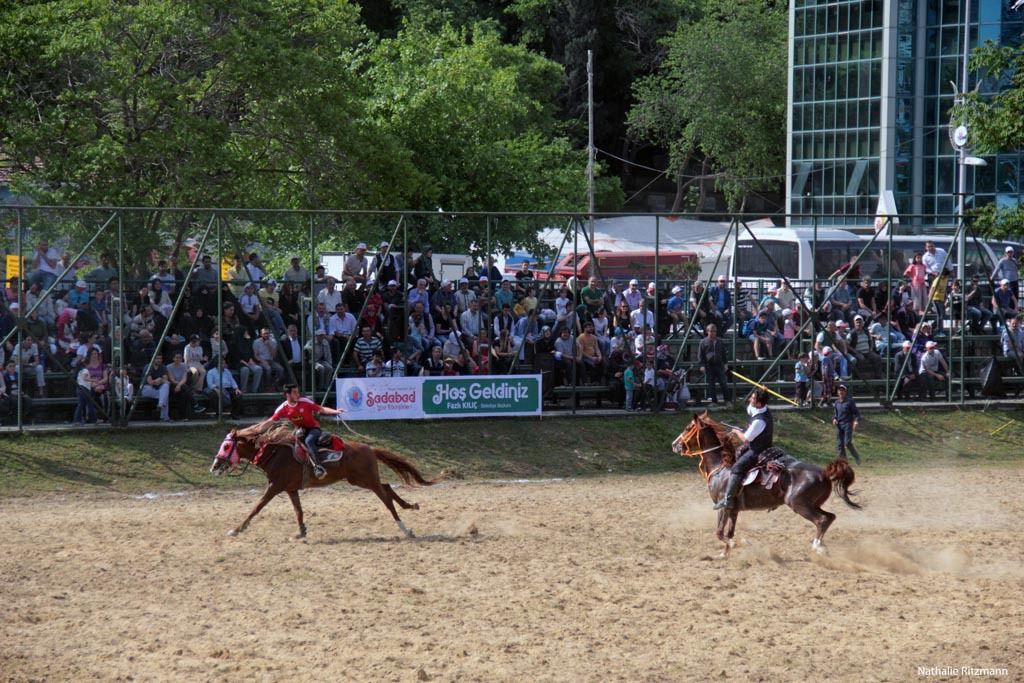 Le cirit, jeu équestre traditionnel, présenté depuis 23 ans à Kağıthane/Istanbul