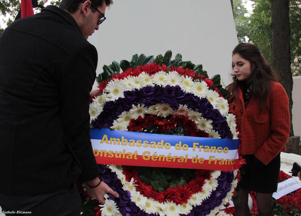Dépôt de gerbes, cérémonie de l'Armistice 2017 à Istanbul
