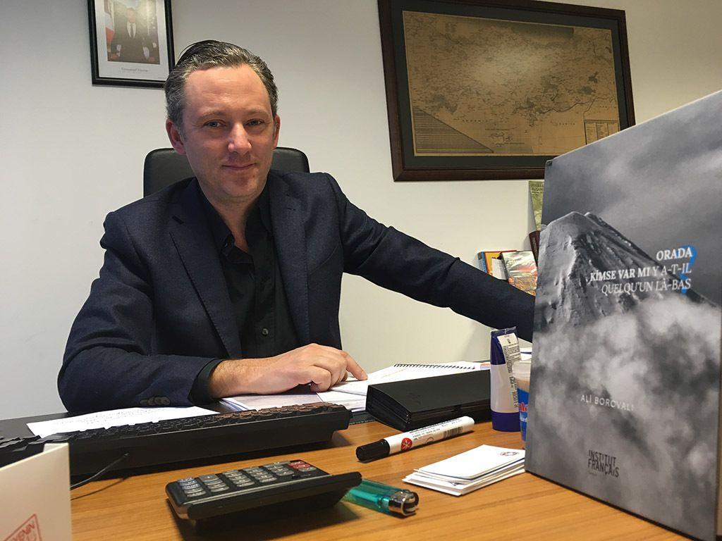 Sébastien de Courtois, nouveau directeur de l'Institut Français d'Ankara - Photo Ismail Babaoğlu