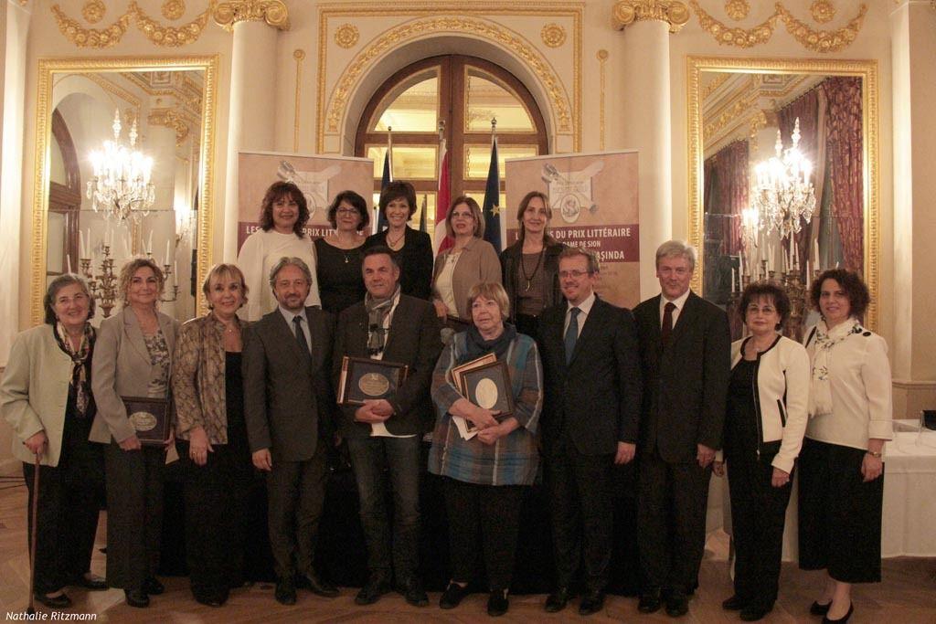 Cérémonie de remise du Prix Littéraire Notre-Dame de Sion 2018 au Palais de France d'Istanbul