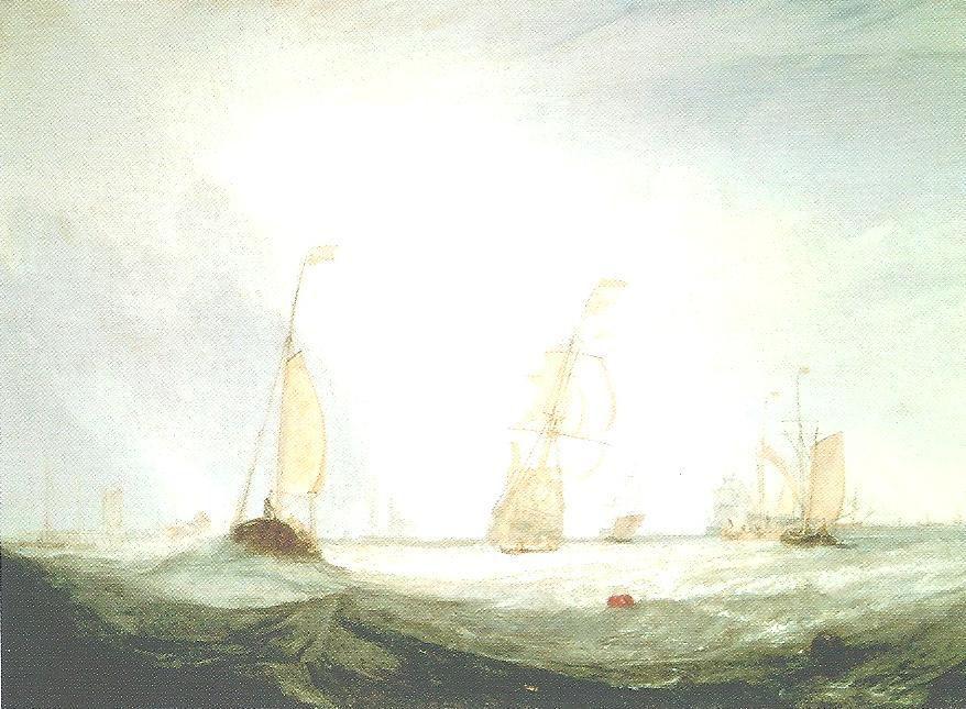 La Ville d'Utrecht prenant la mer - 1832