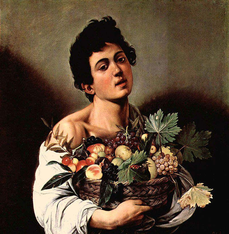 Garçon avec panier de fruits - Le Caravage - 1593 galerie Borghèse