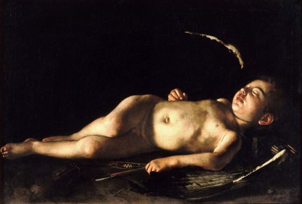 Caravage - Amour endormi 1608 - huile sur toile 72x105cm - Florence Palazzo Pitti