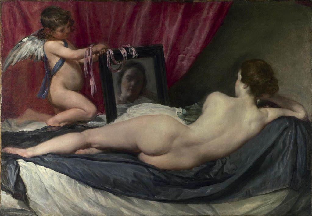 La toilette de Vénus (Vénus au miroir) - 1647-1651 huile sur toile 123x177cm Londres National Gallery