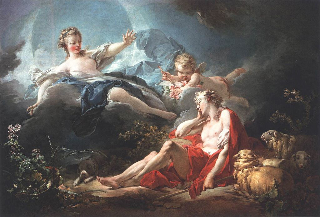 """Diane et Endymion"" Huile sur toile 95x 137cm - Washington National Gallery of Art"