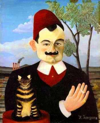 H.Rousseau - Portrait de Monsieur X (Pierre Loti) 1906 - huile sur toile 61x50cm, Zurich et Le mécanicien de Fernand Léger 1920