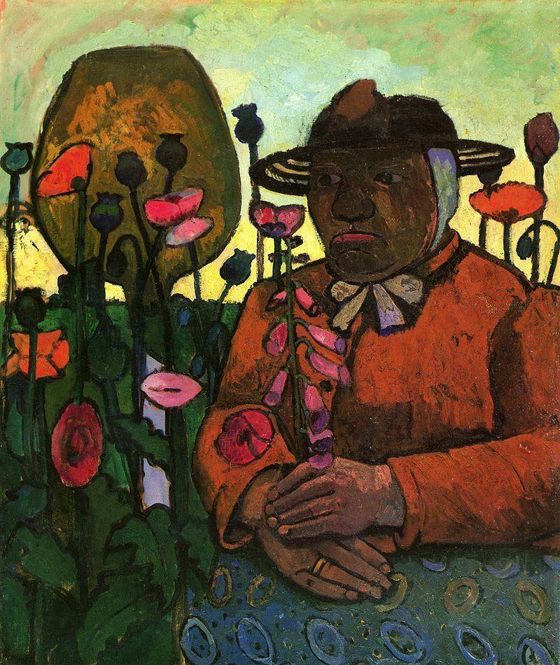Ce tableau termine l'exposition -  Vieille domestique au jardin 1906 -  96x80,2cm - Musée Paula Modersohn-Becker - Brême