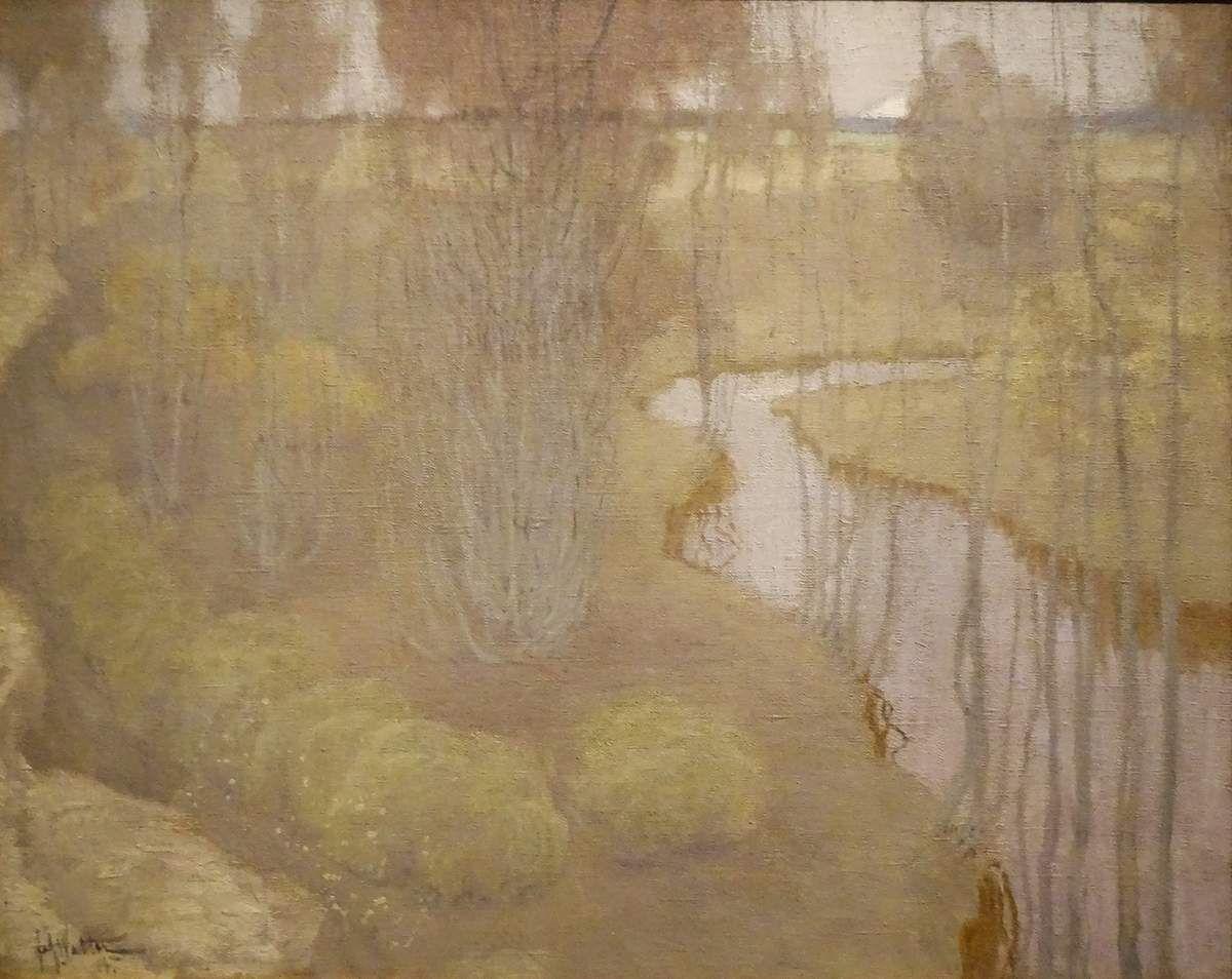 Paysage avec rivière - 1904 - Huile sur toile - Johann Walter - Lettonie
