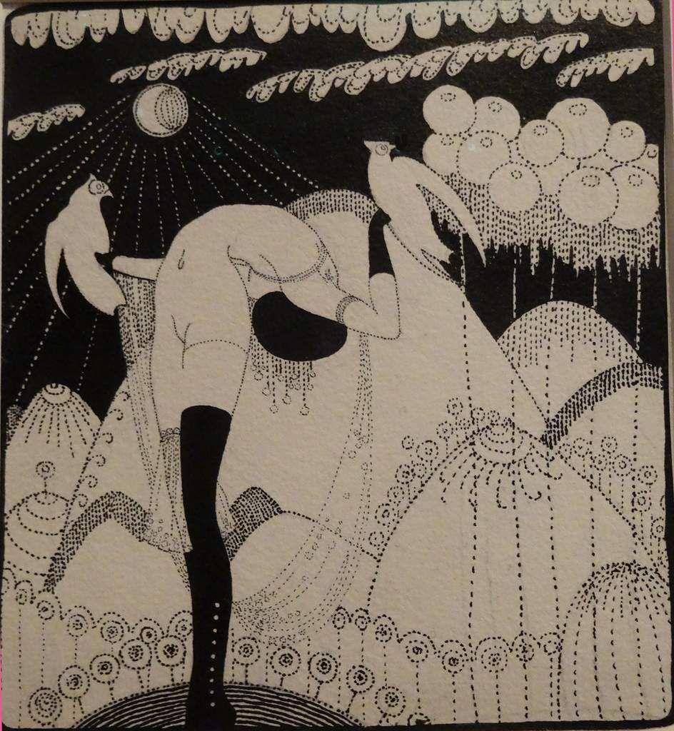 Bateaux sur la mer et Danse aux oiseaux 1913 - Encre de chine - Sigismunds Vidbergs - Lettonie