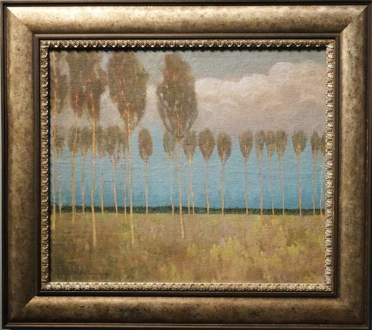 Peupliers - Huile sur carton - 1904 - Johann Walter - Lettonie