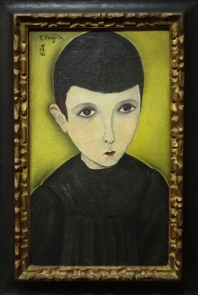Portrait de petit écolier - 1918 Huile sur toile